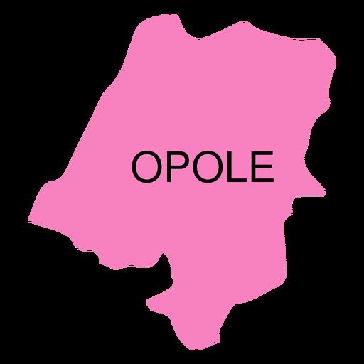 Mapa de voivodato de Opole Transparent PNG