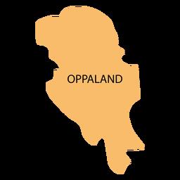 Mapa do condado de Oppland
