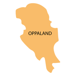 Oppland county map