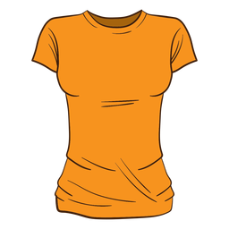 Desenhos animados da camisa laranja das mulheres t