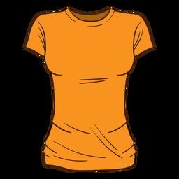 Dibujos animados de camiseta de mujer naranja