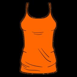 Desenhos animados da parte superior de tanque das mulheres alaranjadas