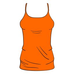 Dibujos animados de camiseta sin mangas mujer naranja