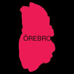 Mapa del condado de Orebro
