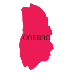 Orebro county map