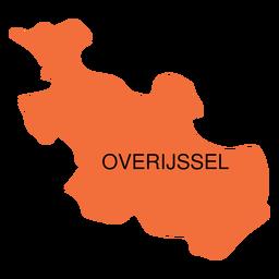 Mapa da província de Overijssel