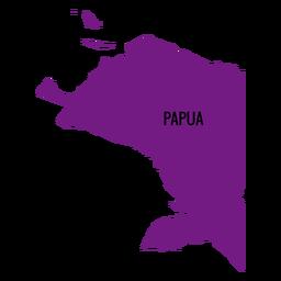 Mapa de la provincia de papua