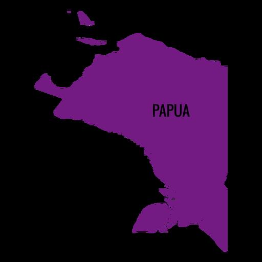 Papua province map Transparent PNG