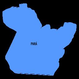 Mapa do estado do Pará