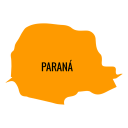 Parana state map