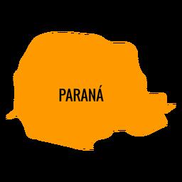 Parana state map