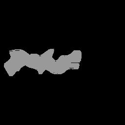 Mapa del estado de pernambuco