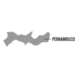 Pernambuco state map