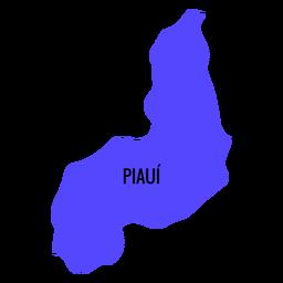 Piaui State Karte