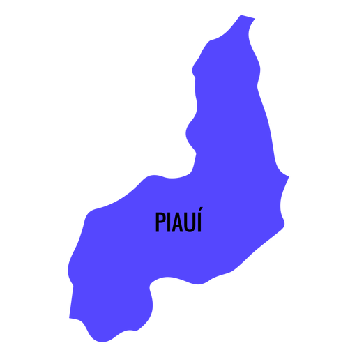 Piaui state map Transparent PNG