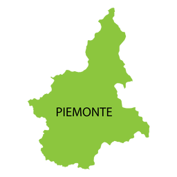 Mapa da região do Piemonte