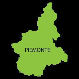 Mapa de la región de Piamonte