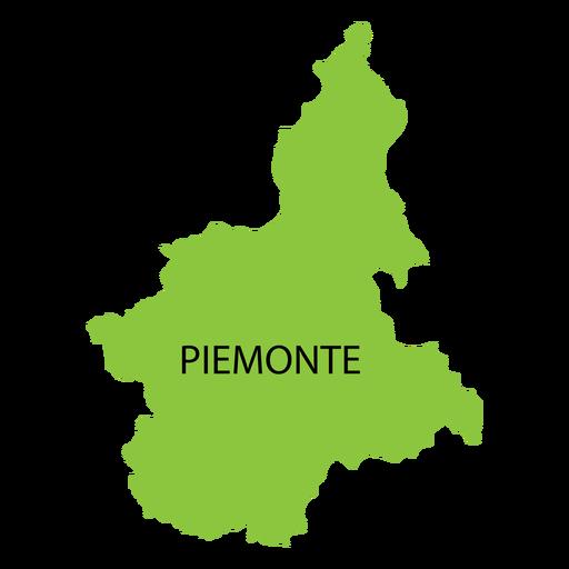 Mapa da região do Piemonte Transparent PNG