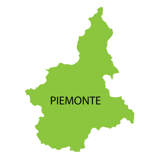 Piedmont region map Transparent PNG