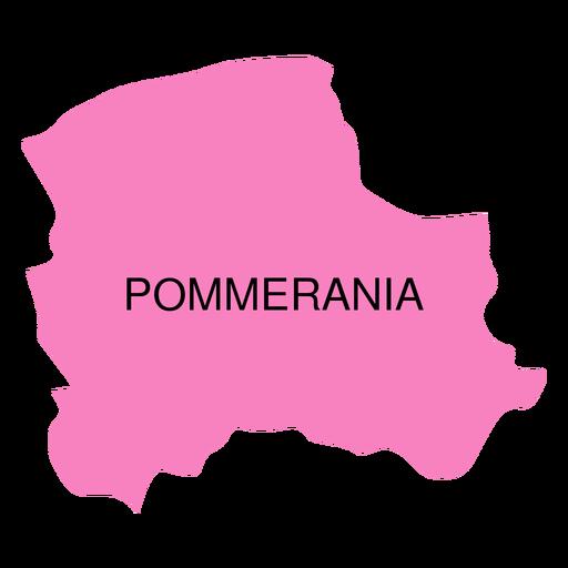 Mapa de voivodato de Pommerania Transparent PNG