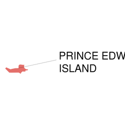 Mapa da província de Prince Edward Island