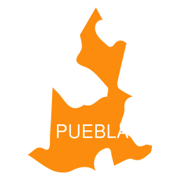 Puebla state map