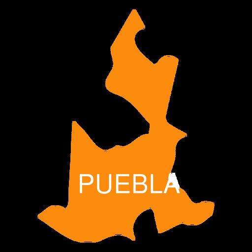 Mapa do estado de Puebla