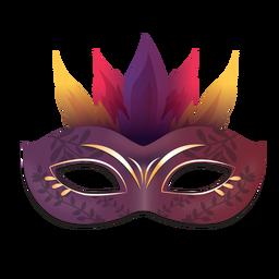 Máscara de carnaval roxo fogo