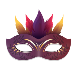 Purple fire carnival mask