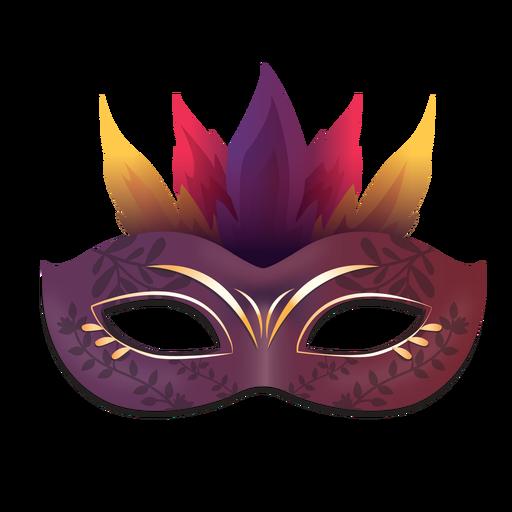 Purple fire carnival mask