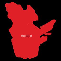 Mapa da província de Quebec