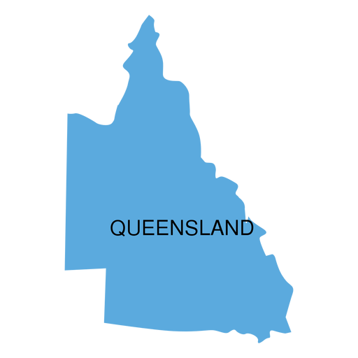 Queensland state map Transparent PNG