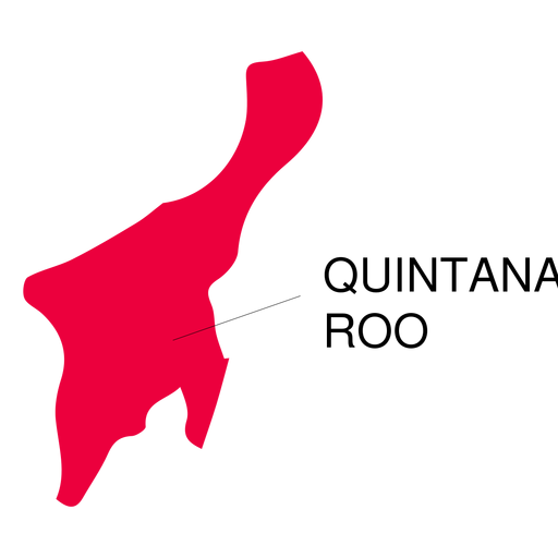 Quintana roo state map Transparent PNG