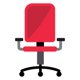 Clipart de cadeira de escritório vermelho