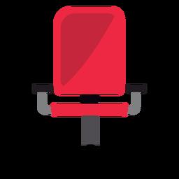 Silla de oficina roja clipart