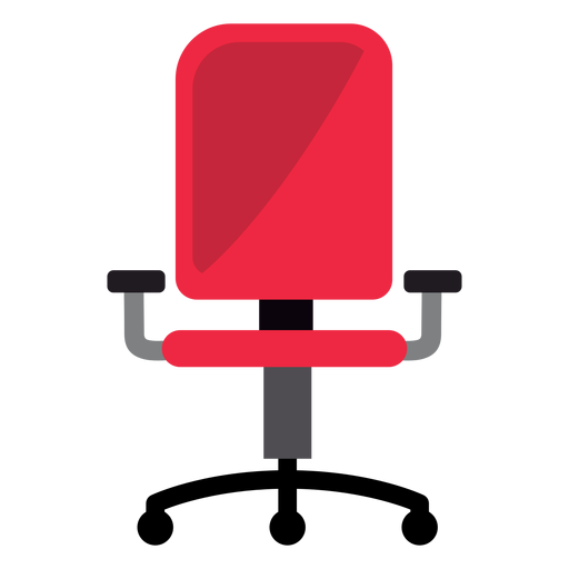 Red office chair clipart Transparent PNG