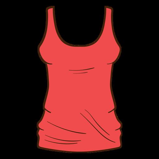 Red women tank top cartoon Transparent PNG