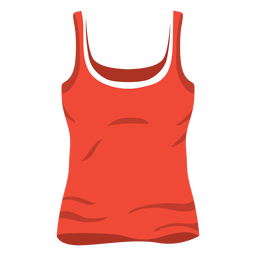 Icono de camiseta sin mangas de mujer roja