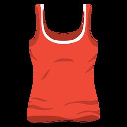 Rote Frauen Tanktop-Symbol