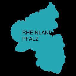 Mapa del estado del palatinado de Renania