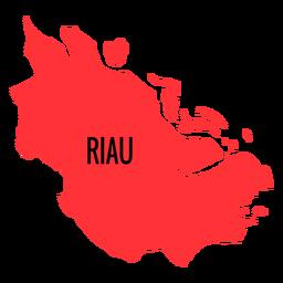 Mapa da província de Riau