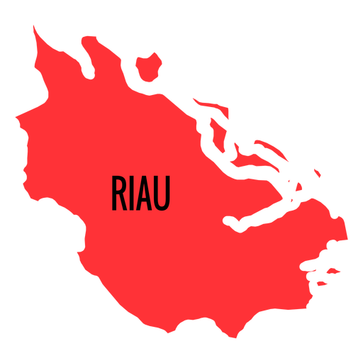 Riau province map Transparent PNG