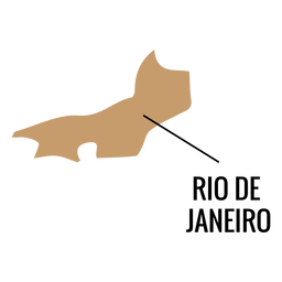 Rio de Janeiro Zustand Karte