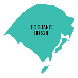 Mapa do estado do rio grande do sul