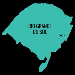 Rio grande do sul state map