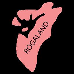 Mapa do condado de Rogaland