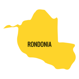 Rondonia state map