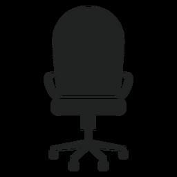 Icono de silla de oficina con respaldo redondo