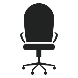 Icono de silla de oficina redonda