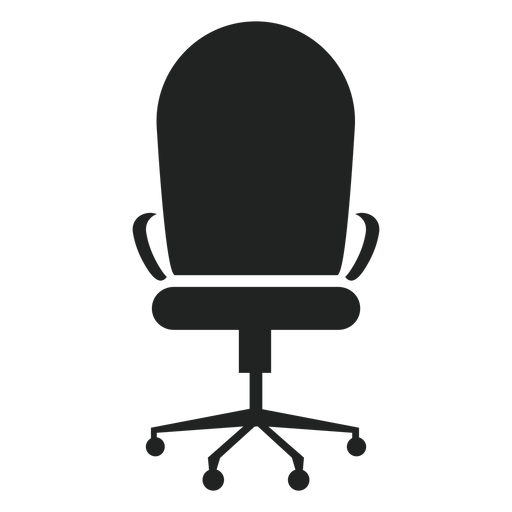Round back office chair icon Transparent PNG
